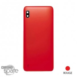 Vitre arrière Rouge avec lentille caméra Samsung Galaxy A10