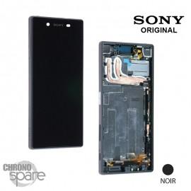 Ecran LCD + Vitre Tactile + Chassis Sony Xperia Z5 noir (officiel) 1296-1894