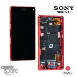 Ecran LCD et Vitre tactile avec châssis Orange Xperia Z3 Compact (officiel)