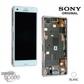 Ecran LCD et Vitre tactile avec châssis Blanc Xperia Z3 Compact (officiel) 1289-2680