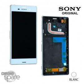 Ecran LCD et vitre tactile avec châssis Blanc Sony Xperia Z3 (officiel) 1290-6075