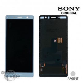 Ecran LCD + vitre tactile Argent Sony Xperia XZ2 Compact (officiel)