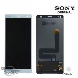 Ecran LCD + vitre tactile Argent Sony Xperia XZ2 (officiel)