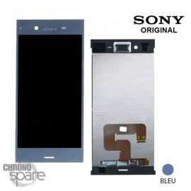 Ecran LCD + vitre tactile Bleu Sony Xperia XZ1 (officiel)