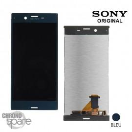 Ecran LCD et Vitre Tactile bleu Sony Xperia XZ F8331 / F8332 (officiel)