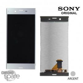 Ecran LCD et Vitre Tactile argent Sony Xperia XZ F8331 / F8332 (officiel)