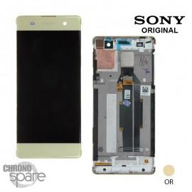 Ecran LCD & Vitre tactile Or vert Sony Xperia XA (officiel) 78PA3100020