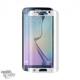 Vitre de protection incurvée Samsung Galaxy S6 Edge Blanche