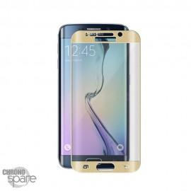 Vitre de protection incurvée Samsung Galaxy S6 Edge Or