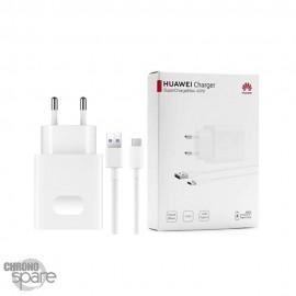 Chargeur secteur + câble 1M Superchargeur 40W TYPE C Huawei original 5V 2 A - Blanc