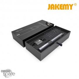 Jakemy Electrique Tournevis Avec 40Pcs Bits Sans Fil Rechargeable