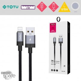 Câble USB vers Lightning 18/30W gris TOTU