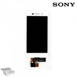 Ecran LCD et Vitre tactile Blanche Sony Xperia M5 E5603 (officiel) 191HLY0004B-WCS