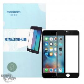 Vitre protection en verre trempé transparente HD iphone 6P/6SP noire avec boîte MOMENT