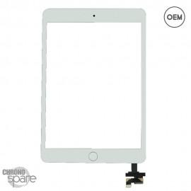 Vitre tactile blanche Ipad Mini 3 sans bouton Home OEM