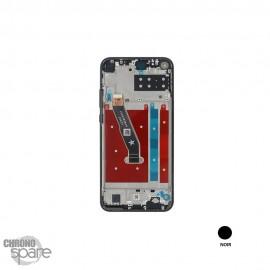 Bloc écran OLED + vitre tactile + châssis Huawei P40 Lite E noir