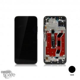 Bloc écran OLED + vitre tactile + châssis Huawei P40 Lite noir