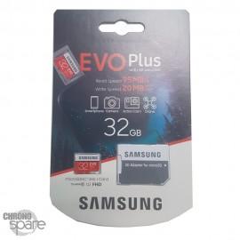 Carte mémoire Samsung Micro 32Go Evo Plus + Adaptateur