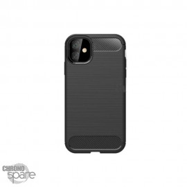 "Coque souple carbone iphone iphone 12 / 12 pro 6,1"" - Noir"