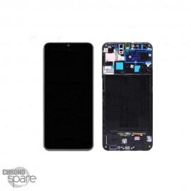 Ecran LCD + Vitre Tactile sans châssis noir Samsung Galaxy A50s