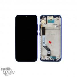 Ecran LCD et Vitre Tactile avec châssis Xiaomi Redmi Note 7 Bleu