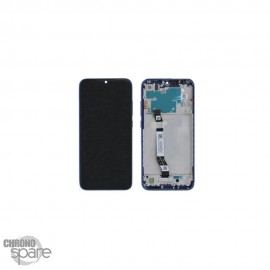 Ecran LCD + vitre tactile avec châssis bleue Xiaomi redmi note 8