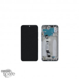 Ecran LCD + vitre tactile avec châssis blanc Xiaomi redmi note 8