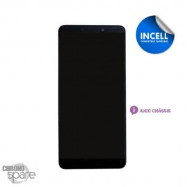 Ecran LCD + Vitre Tactile + châssis noir compatible Samsung Galaxy A30 A305F (INCELL)