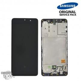 Ecran LCD + Vitre Tactile + châssis noir Samsung Galaxy A41 A415F (officiel)