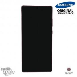 Ecran LCD + Vitre tactile Samsung Galaxy Note 20 SM-N980F bronze (officiel)