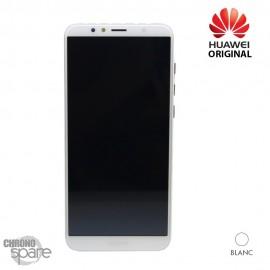 Ecran LCD + vitre tactile + Batterie Huawei Y6 2018 - Blanc (officiel)