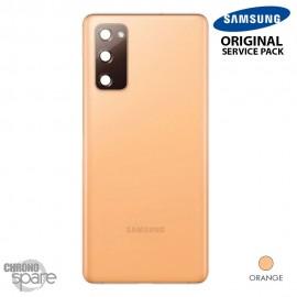 Vitre arrière + vitre caméra Orange Samsung Galaxy S20 FE G780F (officiel)