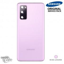 Vitre arrière + vitre caméra rose lavande Samsung Galaxy S20 FE G780F (officiel)