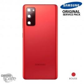 Vitre arrière + vitre caméra rouge Samsung Galaxy S20 FE G780F (officiel)