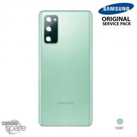 Vitre arrière + vitre caméra vert Samsung Galaxy S20 FE G780F (officiel)