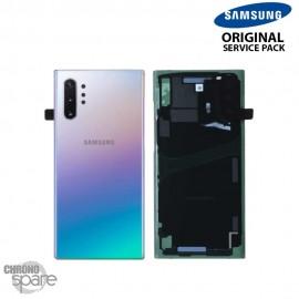 Vitre arrière + vitre caméra Samsung Galaxy Note 10 Plus SM-N975 Argent