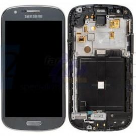 Vitre tactile et écran LCD Samsung Galaxy Express i8730 gris (Officiel)