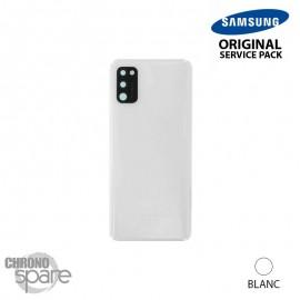 Vitre arrière + vitre caméra Blanche Samsung Galaxy A41 (Officiel)