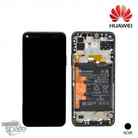 Vitre tactile et écran LCD + batterie Huawei P40 Lite noir 5G (officiel)