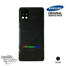 Vitre arrière + vitre caméra Noire Samsung Galaxy A71 A715F (Officiel)