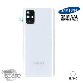 Vitre arrière + vitre caméra Argent Samsung Galaxy A71 A715F (Officiel)