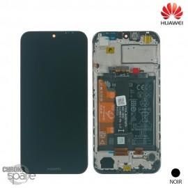 Ecran LCD + vitre tactile + Batterie Huawei Y6P 2020 - Noir (officiel)