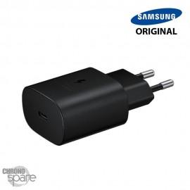 Chargeur secteur Samsung original TYPE C 25W - Noir