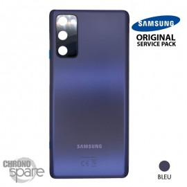 Vitre arrière + vitre caméra bleue Samsung Galaxy S20 FE G780F (officiel)