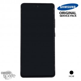 Ecran LCD + Vitre Tactile + châssis noir Samsung Galaxy A51 5G A516F (officiel)