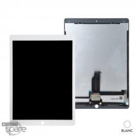 Ecran LCD + vitre tactile blanche iPad Pro 12.9 pouces (A1652 A1584 ) avec nappes et adhésif