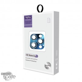 Vitre de protection pour caméra arrière iPhone 12 Pro/ Pro max bleu TOTU