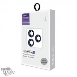 Lentilles de protection pour caméra arrière iPhone 12 pro max bleu TOTU