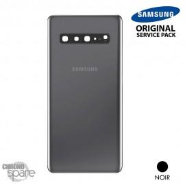 Vitre arrière + vitre caméra noire Samsung Galaxy S10 5G (officiel)