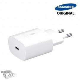 Chargeur secteur Samsung original TYPE C 25W - Blanc